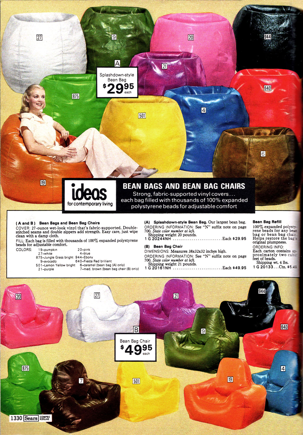 d0c9df4f4 Furniture that's Full of Beans - Sears, 1977 - The Catalog Blog